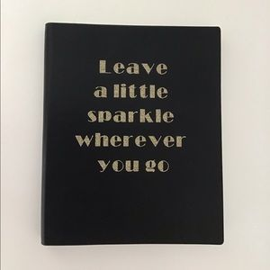 Other - Notebook/Journal black and gold glitter sparkle